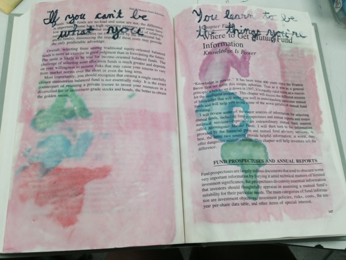 Danielle's visual journal page, inspired by song lyrics by Passenger (I think...)
