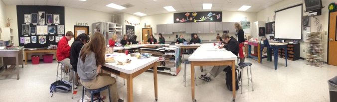 My beautiful classroom and gorgeous students working hard in their journals.