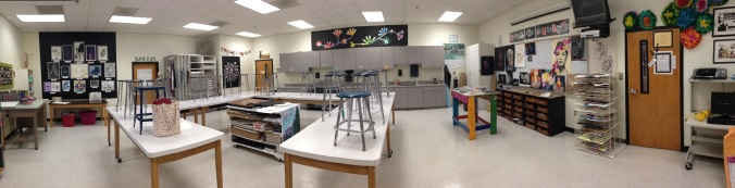 Panorama of this amazing classroom.
