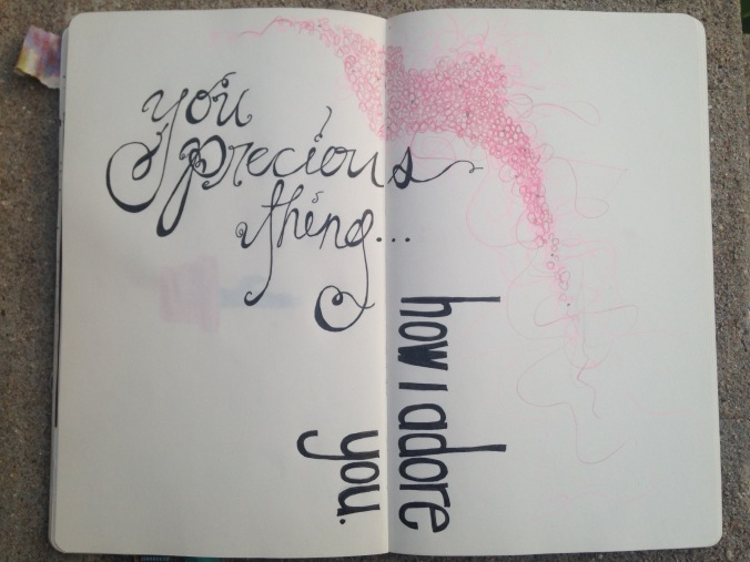 """""""how i adore you"""" -visual journal page"""